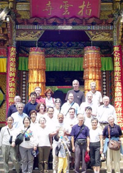 Participants in the Comparative National Elections Project pose outside a Tibetan Buddhist lamasary just outside of Lijiang, China.