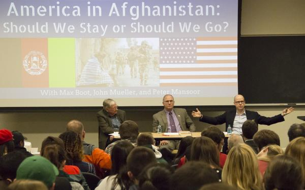 "John Mueller, Peter Mansoor and Max Boot on ""America in Afghanistan: Should We Stay or Should We Go?"""