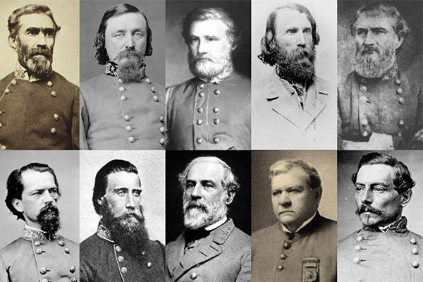 confederate soldiers with named US Army bases