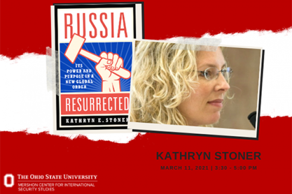 poster for Kathryn Stoner talk