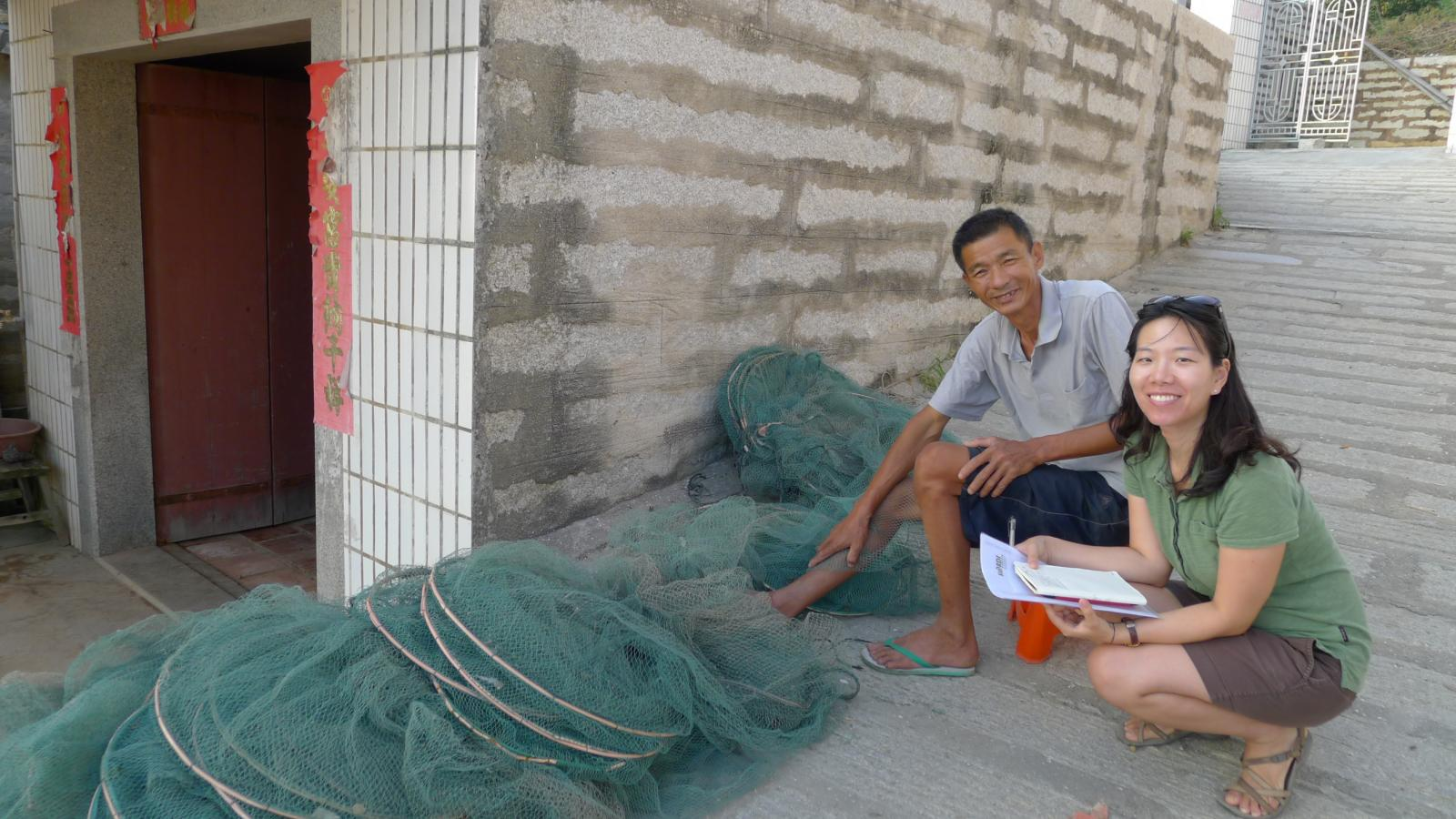 Doctoral student Rae Choi interviewed a Chinese fisherman for dissertation on coastal China.